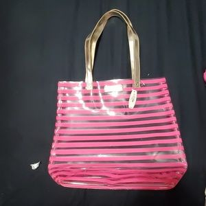 NWT Victoria's Secret tote, clear and white